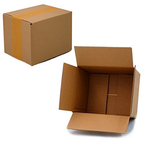 25 Faltkartons 190x150x140mm braun KK 20 1 wellig rechteckig Versandkarton für kleine Waren kleine Kartons DHL Versandkarton