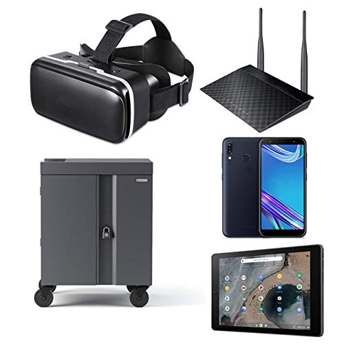 ASUS Education VR Kit - Google Expeditions, Viewers, Teachers Tablet, Router, Charging Cart, VR Devices (10 Pack)
