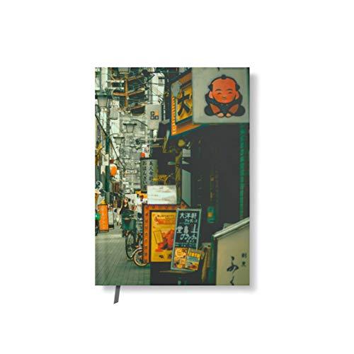 Taccuino con copertina design stradale giapponese 128 pagine segnalibro DIN A5 kariert