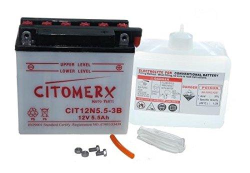 Batterie 12V 5,5AH für Aprilia RX Tuareg, Simson S53 S83, Vespa P PK PX, Yamaha RD YZF-R