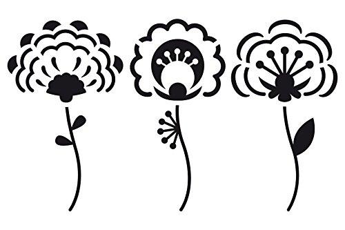 Artemio 10 x 15 cm 3 Piezas Plantilla para estarcir diseño de Flores