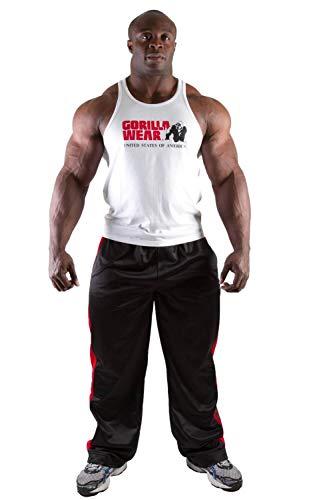 GORILLA WEAR - Herren Gym Shirt - Classic Stringer Tank Top - S bis 3XL Bodybuilding Fitness Muskelshirt Weiß M