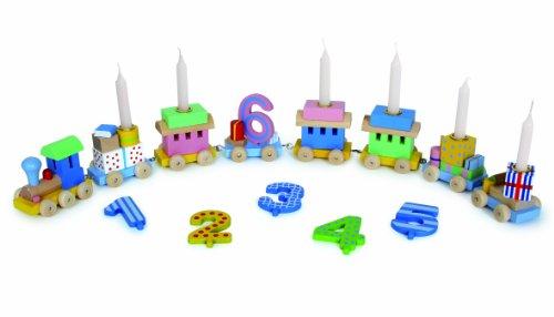 Toys pure - Geburtstagszug Lok mit 7 Anhängern