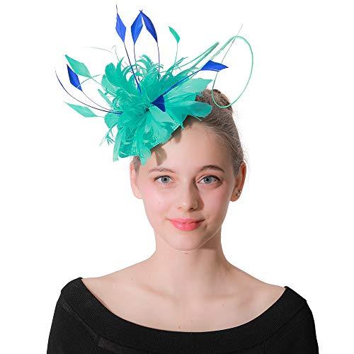 Jklj Pince à Cheveux Coiffe De Plumes Mesdames Chapeau Plume Fleur Hairpin Coiffe Cocktail Tea Party Rétro
