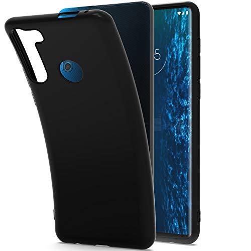 CoverON Dünne TPU-Schutzhülle für Motorola Moto One Fusion Plus, flexibel, weich, Schwarz