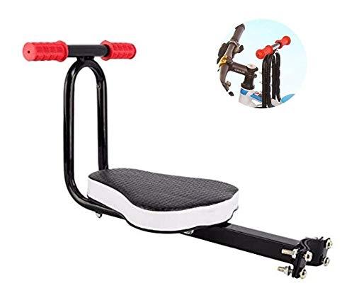 LYATW Asiento eléctrico de la Bicicleta Infantil Bicicleta Montaje Delantero Conjunto niño con reposabrazos de Bicicletas Carrier, Plegable de la Bici del Lanzamiento rápido de los niños de una Silla