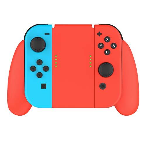 Talkworks Joycon Comfort Grip for Nintendo Switch - Controller Game Accessories Handheld Joystick Remote Control Holder Joy Con Kit, Red - Nintendo Switch