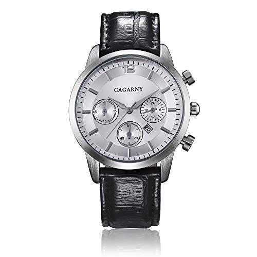 Reloj de Cuarzo ZHANGZZ Reloj de Gama Alta, CAGARNY Reloj de Cuarzo para Hombres, Reloj de Cuarzo para Hombres. (Color : 4)