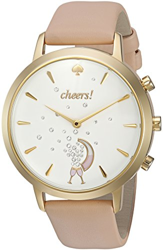 kate spade new york Women's KST23102 Grand Metro Vachetta and Gold Hybrid Smartwatch
