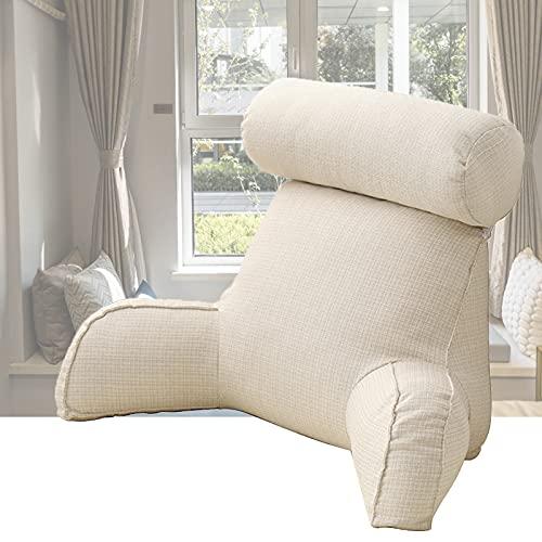 HIFONI - Almohada de lectura, cojín soporte lumbar con espuma destruida con memoria de forma | Leer o jugar sobre la cama, el sofá o el suelo, excelente para sentarse y leer o jugar, 754040 cm