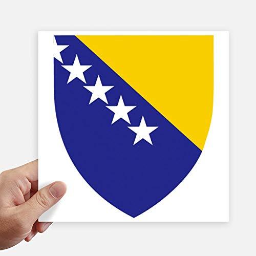 DIYthinker Bosnie-Herzégovine Emblem Country Square Autocollants 20CM Mur Valise pour Ordinateur Portable Motobike Decal 4Pcs 20Cm X 20Cm Multicolor