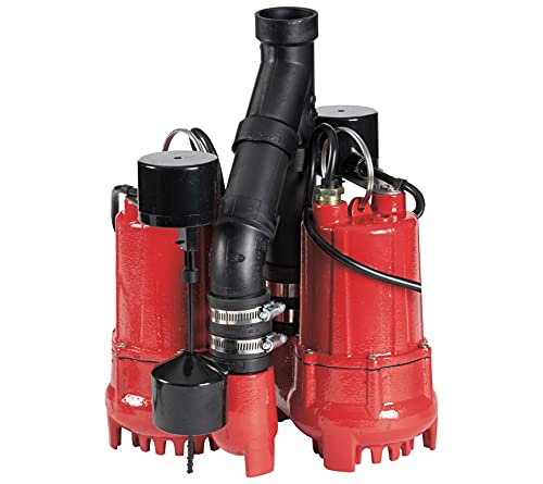 Red Lion 14942771 Cast Iron Sump Pump System with 10-Foot Power Cord
