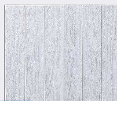 YUMUO Vintage Holz Panel,Selbstklebende Tapete Abnehmbare Wandabdeckung Dekorative Faux Distressed Holz Planke Holz Korn Vinyl Aufkleber Rolle-r 70x70cm(28x28inch)
