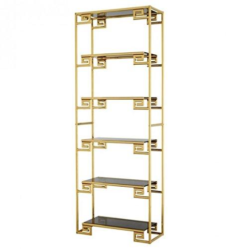 Casa Padrino Regal Schrank Gold mit Rauchglas Qualität