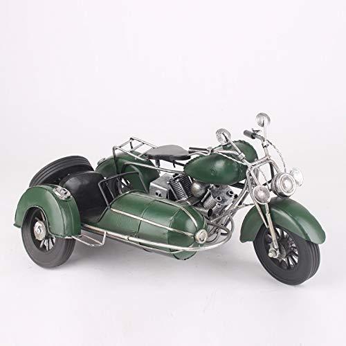 Beiwagen dreirädriges Motorrad Modell Dongzi Eisen Auto Modell Eisen Kunst Retro Handwerk Geschenk