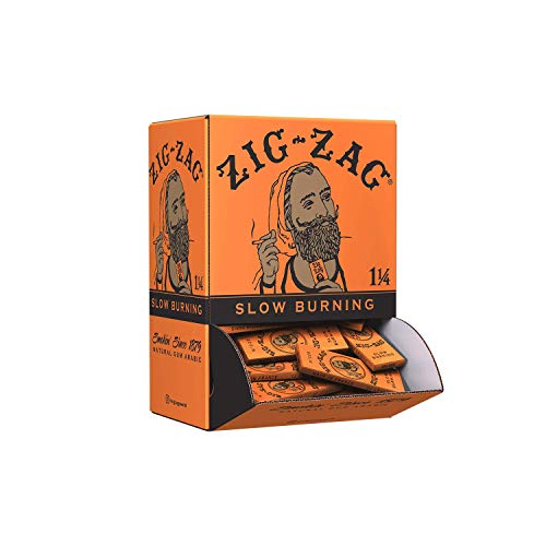 Zig-Zag® Rolling Papers 1 1/4 French Orange - Display Box - 2 Cartons (48 Booklets of 32 Leaves)