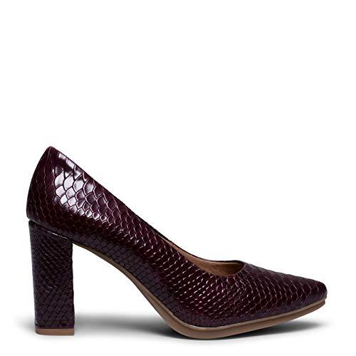 Urban Sauvage - Zapato de salón Burdeos Textura Serpiente