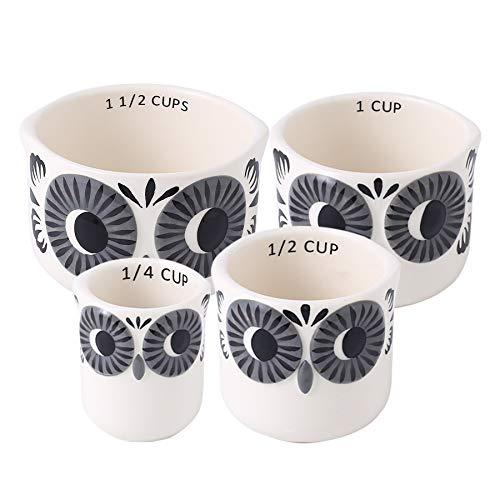 Set of 4 Decorative Measuring Cups