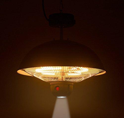 Semptec Urban Survival Technology Infrarotlampe: Infrarot-Decken-Heizstrahler m. Fernbed, 800-2.000 Watt, LED, IPX4 (Infrarot Deckenstrahler)