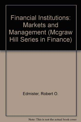 Financial Institutions: Markets and Management (MCGRAW HILL SERIES IN FINANCE)の詳細を見る