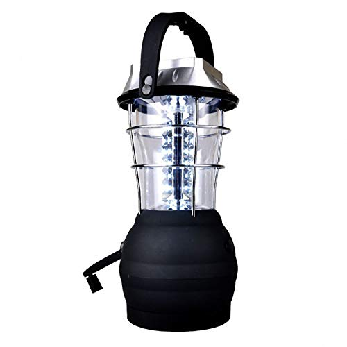 TOOGOO Solar Laterne 5 Modus Handkurbel Dynamo 36 LED wiederaufladbare Camping Laterne Notlicht, Ultra Bright LED Laterne - Campingausruestung Fuer Wandern Notfaelle Hurrikan Ausfaelle