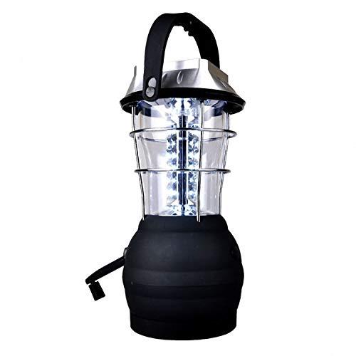 REFURBISHHOUSESolar Laterne 5 Modus Handkurbel Dynamo 36 LED wiederaufladbare Camping Laterne Notlicht, Ultra Bright LED Laterne - Campingausruestung fuer Wandern Notfaelle Hurrikan Ausfaelle