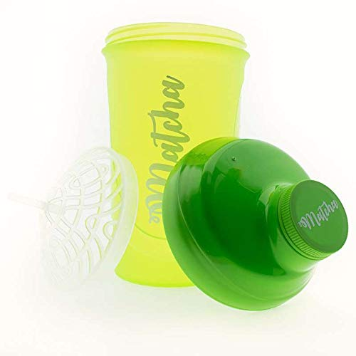 Aromas de Te - Matcha Shaker Para Poder Disfrutar en Cualquier Lugar Tu Bebida de Matcha Preferida/Batidor de Matcha, Plastico Libre de BPA
