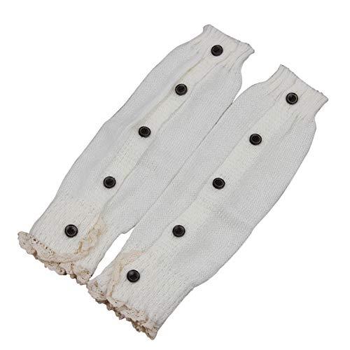 Kasen Mujeres Chicas Calentadores De Invierno Danza Calcetines Blanco