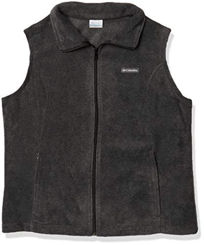Columbia Women's Benton Springs Soft Fleece Vest, Charcoal Heather, X-Large
