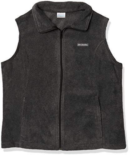 Columbia Women's Benton Springs Soft Fleece Vest, Charcoal Heather, XX-Large