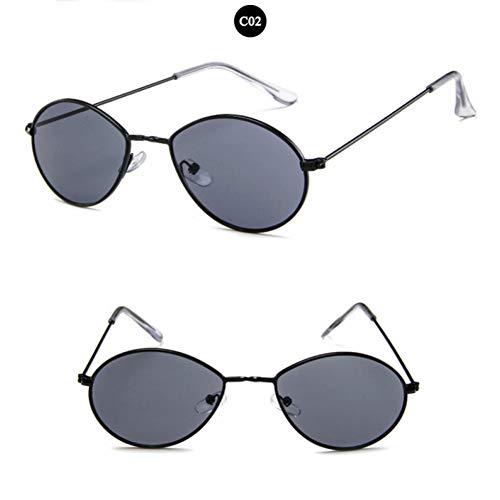 SKCLBOOS Gafas de Sol Gigi Hadid Gafas de Sol ovaladas Redondas para Las Mujeres 2018 Hombres diseñador de la Marca Gafas para Mujer Gafas de Sol Chicas Gafas Rojas