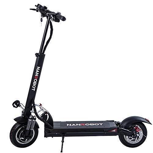 NANROBOT D5+ 2.0 Foldable Lightweight 2000W Electric Scooter with Top Speed of 40 MPH andTraveling...
