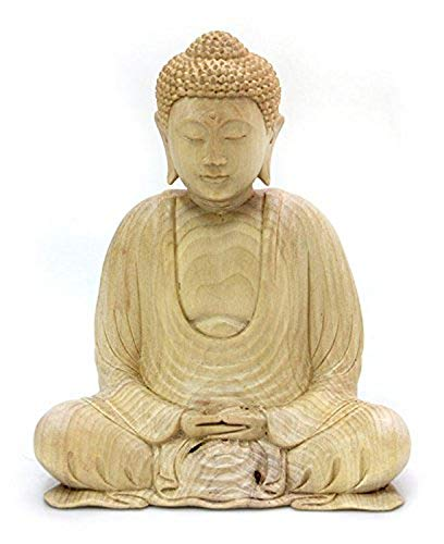 NOVICA Buddhas Gesture Wood Sculpture