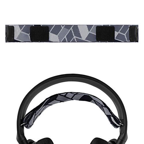 Geekria - Diadema de repuesto para SteelSeries Arctis 5, Arctis 3, todos los auriculares de juego con plataforma, banda para la cabeza / velcro elástico de terciopelo (gris oscuro)