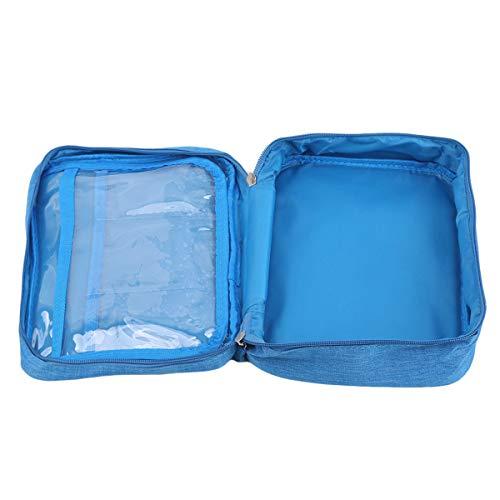 SUNSKYOO Voyage Trousse De Toilette Hommes Organisateur Zipper Poignée Fourre-Tout Poche Pliant Lavage Sac Portable Comestic Organisateur,Bleu