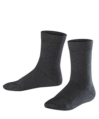 FALKE Kinder Socken Family - 94% Baumwolle, 1 Paar, Grau (Anthracite Melange 3080), Größe: 39-42