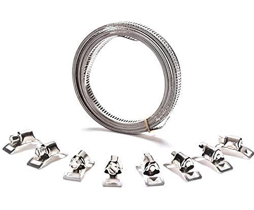 Schlauchschelle Endlos Spannbänder Edelstahl W2 12,7mm 3 Meter mit 6 Schlösser