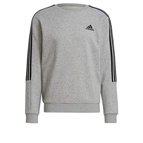 adidas GK9580 M Cut 3S SWT Pullover Mens Medium Grey Heather/Black L