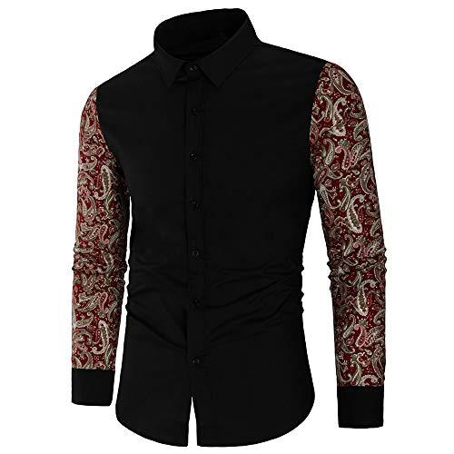 SALEBLOUSE 2020 Autumn and Winter New Mens Long Sleeve Linen Fleece Cotton Arm Full Lace Solid Color Fashion Design Lapel Embroidery Pattern Button T-Shirt Top Coat Cardigan Jakets Jumper