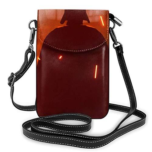 Hdadwy Da-rth Va-der Leichte kleine Umhängetaschen Leder Handy Geldbörsen Reisetasche Umhängetasche Brieftasche mit Kreditkartenfächern für Frauen