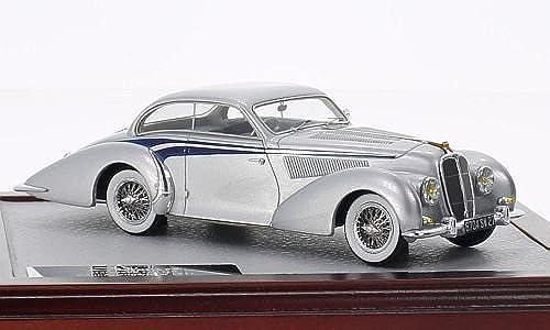 Delahaye 135 MS Coupé Langenthal, silber dunkelblau, 1947, Modellauto, Fertigmodell, Chromes 1 43