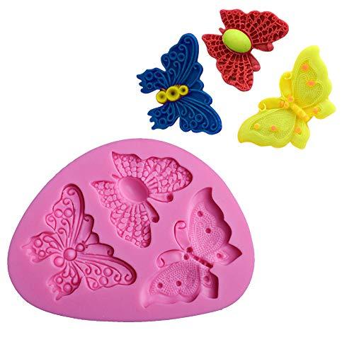 en forme de papillon Fondant Moule à Cake Moule en silicone Savon Moule Bakeware Moule cuisson outils Sucre Cookie Jelly Pudding Décor