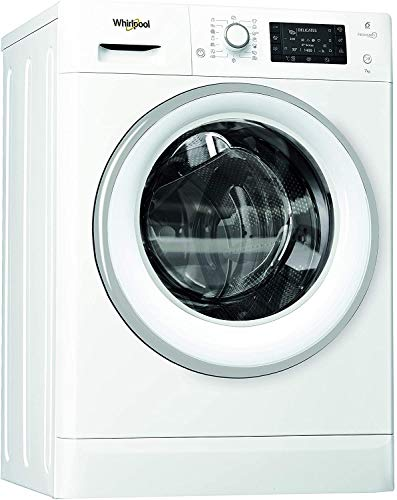 Whirlpool FWSD 71283WS EU, Lavatrice Slim a Carica Frontale a Libera Installazione, 7 Kg, 22 Programmi, A+++, 1200 Giri Min, Bianco