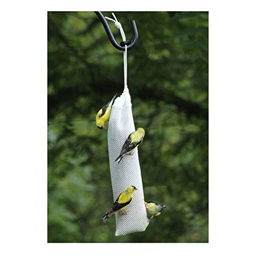 "A_KMO Great Wild Bird Finch Feeder Nyjer Thistle Seed Sock 4"" Wide X 11"" Long"