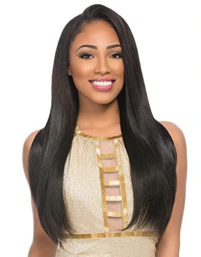 2-Pack Deal ! Sensationnel Human Hair Weave Empire Yaki Weaving (12', 1B)