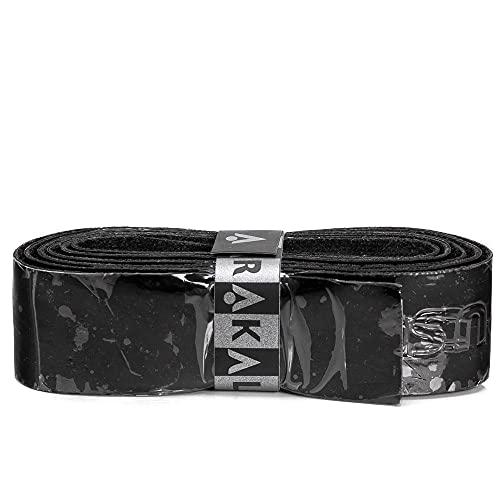 Karakal, Griffband / Griff-Tape, selbstklebend, für Badminton / Squash / Tennis / Hockey / Curling, Polyurethan, ausgezeichnete Griffigkeit, Schläger-Griff, Schwarz , 2 Grips