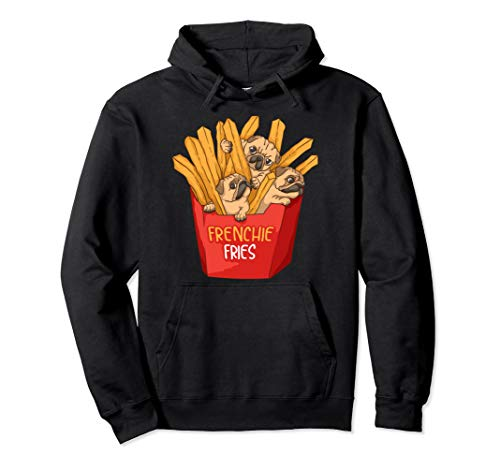 Cool Frenchie Fries | Funny French Fries Bulldog Owner Gift Pullover Hoodie