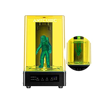 ANYCUBIC Wash and Cure Machine for LCD DLP SLA 3D Resin Printer Models,Rotatable UV Fast Curing and Washing Box for 405nm/356nm Mars Photon Photons