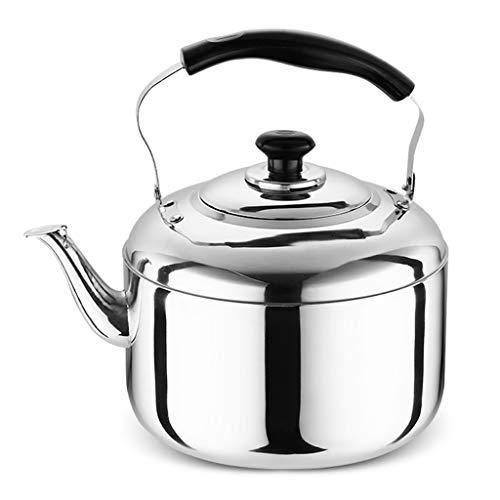 LCFF Bouilloire de santé de sifflet automatique de cuiseur de gaz de cuisine à la maison 304 d'acier inoxydable de cuisinière à induction (Capacité : 6L)