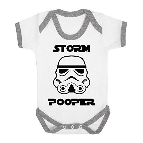 Original Stormtrooper Storm Pooper Babygrow Babysuit with Contrast Trim